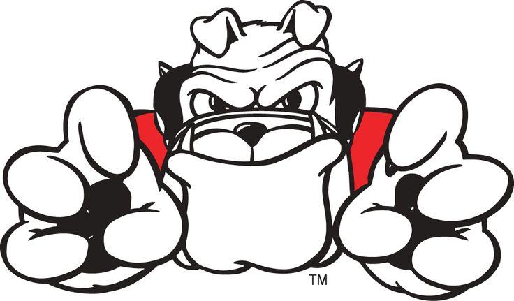 Bulldog clipart sketch. Free georgia bulldogs download