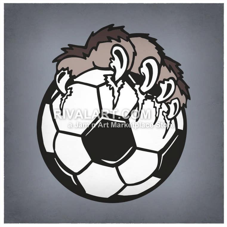 Bulldog clipart soccer. An animal paw tearing