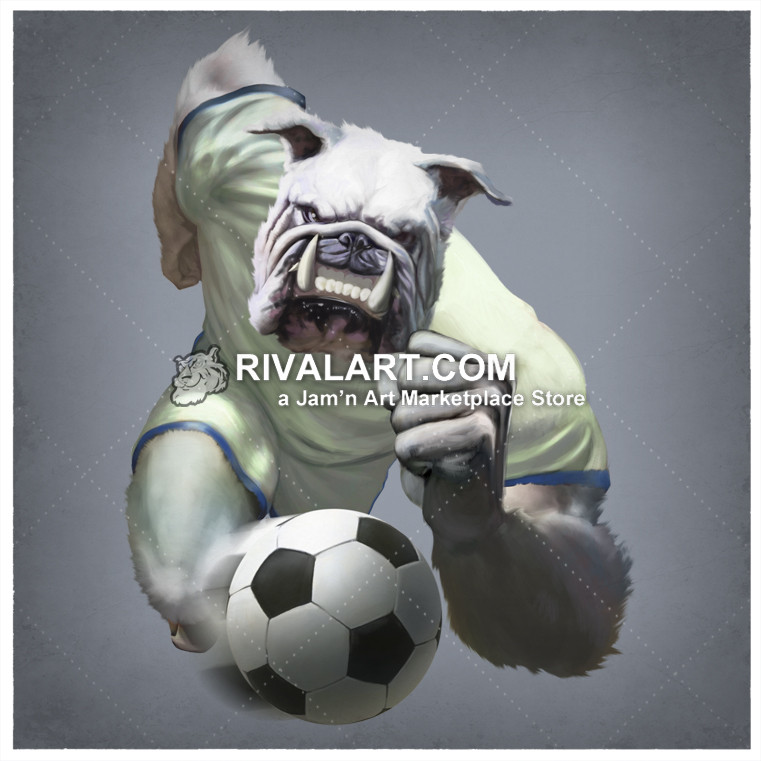 Runner with transparent background. Bulldog clipart soccer