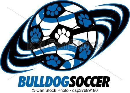 Vector stock illustration royalty. Bulldog clipart soccer