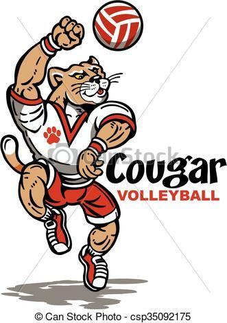 Bulldog clipart volleyball. Vector stock illustration royalty
