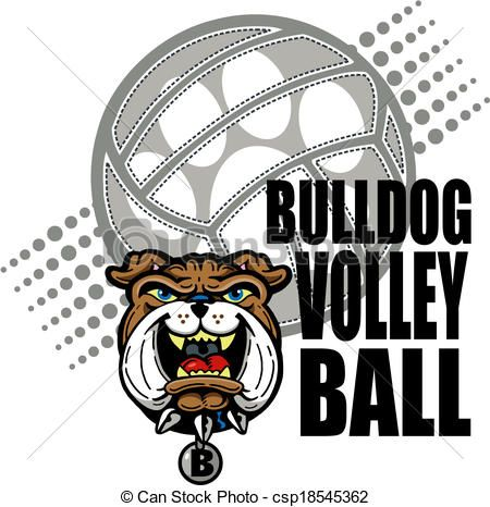 Bulldog clipart volleyball.  best fun images