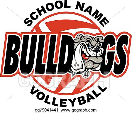 Eps illustration vector gg. Bulldog clipart volleyball