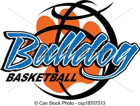 Bulldog clipart volleyball. Vector basketball stock illustration