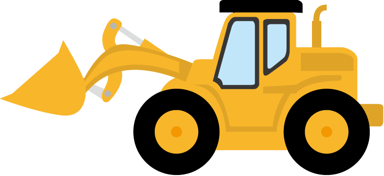 Backhoe clipart building equipment. Bulldozer panda free images