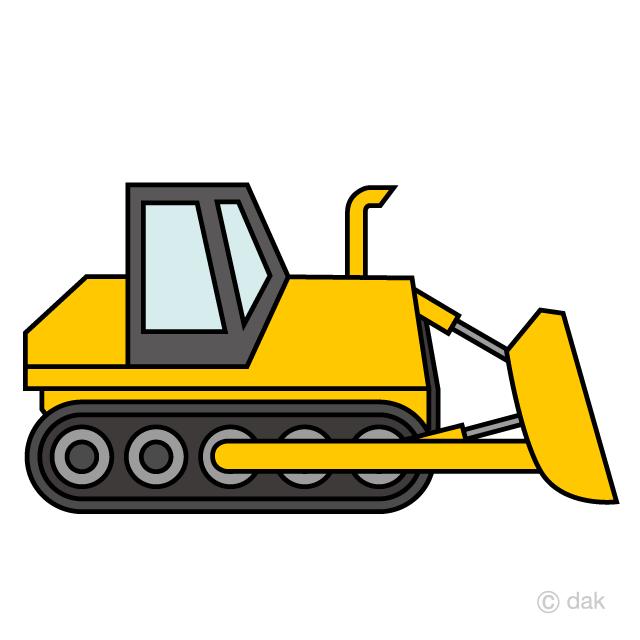 Simple bulldozer free picture. Excavator clipart cute