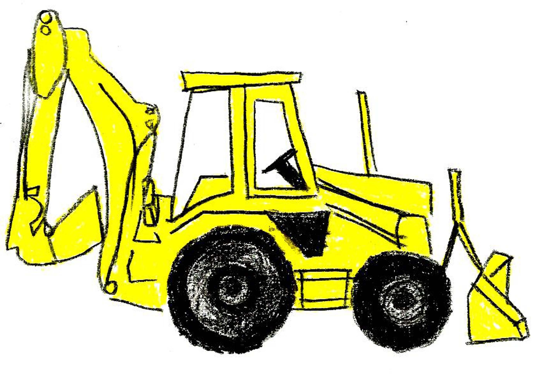 Image of free . Bulldozer clipart backhoe