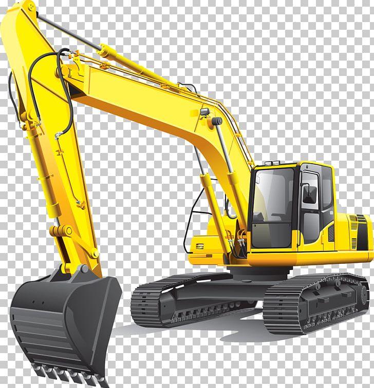 Bulldozer clipart backhoe. Excavator quarry loader png