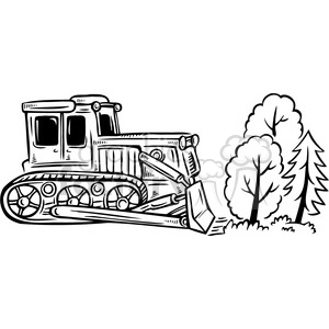 Bulldozer clipart black and white.  clip art graphics