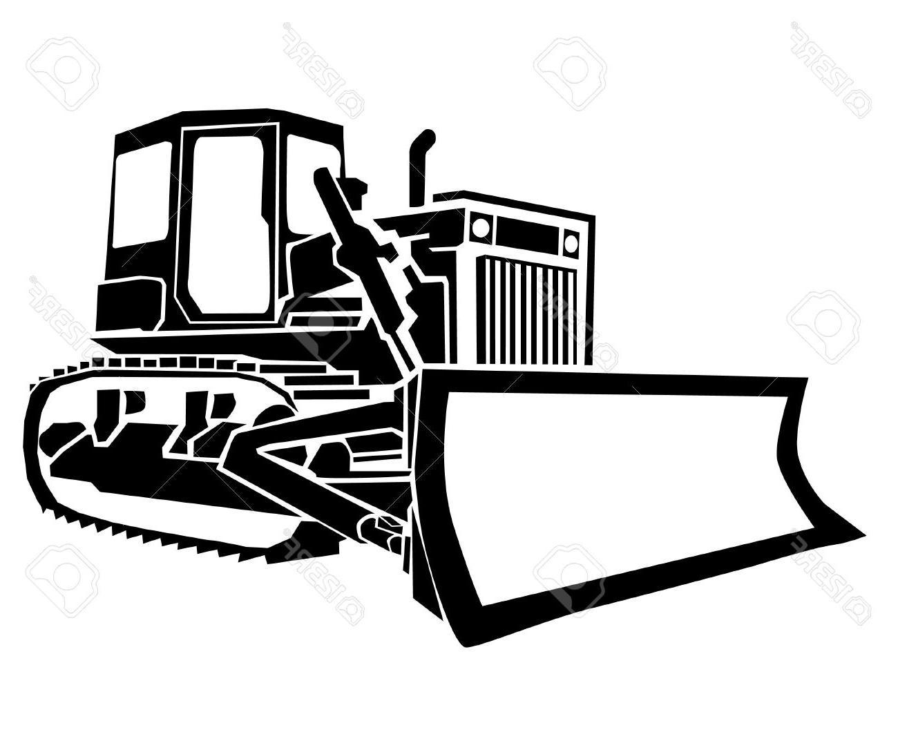 Bulldozer clipart black and white. Dozer free download best