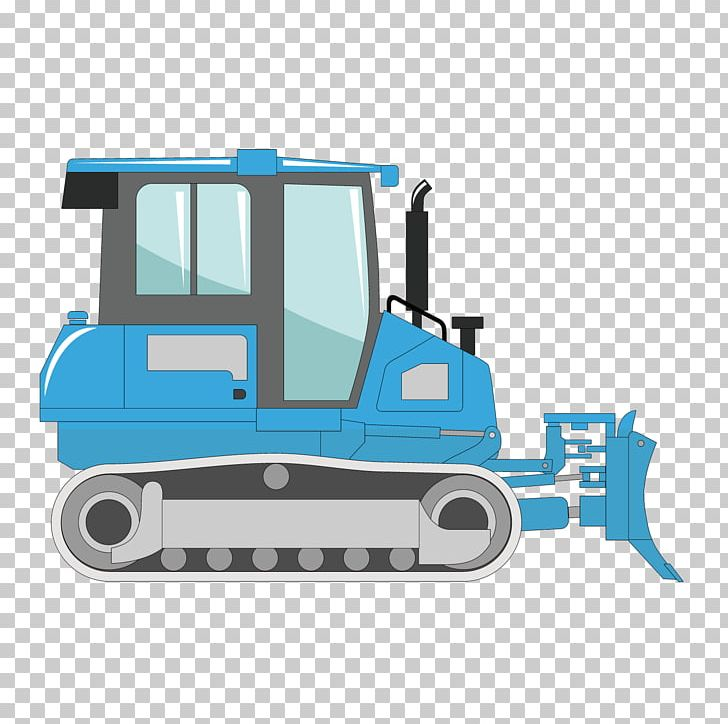 Excavator png abstract . Bulldozer clipart blue