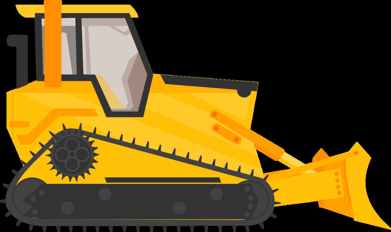 Construction equipment yellow png. Bulldozer clipart blue