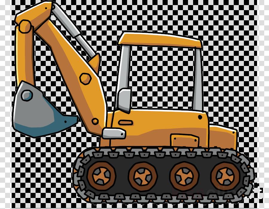 Bulldozer blue transparent cartoon. Excavator clipart digger jcb