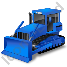 Bulldozer clipart blue. Icon png ico icons