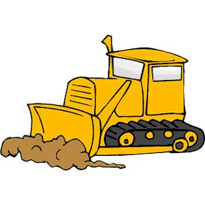 Cliparts of free download. Bulldozer clipart cartoon