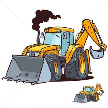 Bulldozer clipart cartoon. Fresh und bagger stock