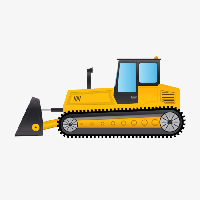 Bulldozer clipart cartoon. Excavator construction png image