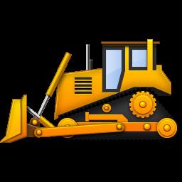 Yellow . Bulldozer clipart cartoon