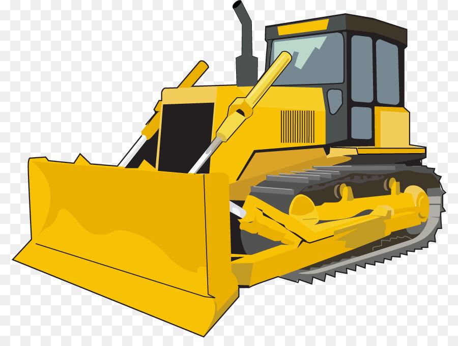 Excavator sticker . Bulldozer clipart cartoon