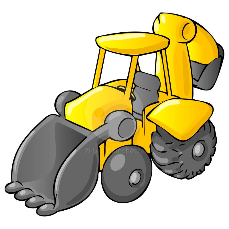Image clip art library. Bulldozer clipart cartoon