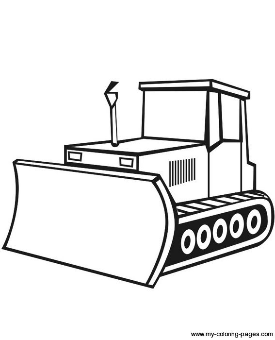 Construction coloring pages september. Bulldozer clipart color
