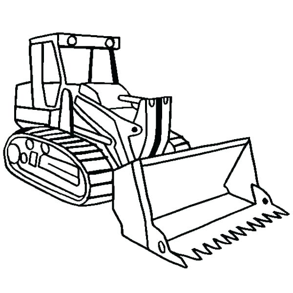 Bulldozer clipart color. Simple drawing at getdrawings