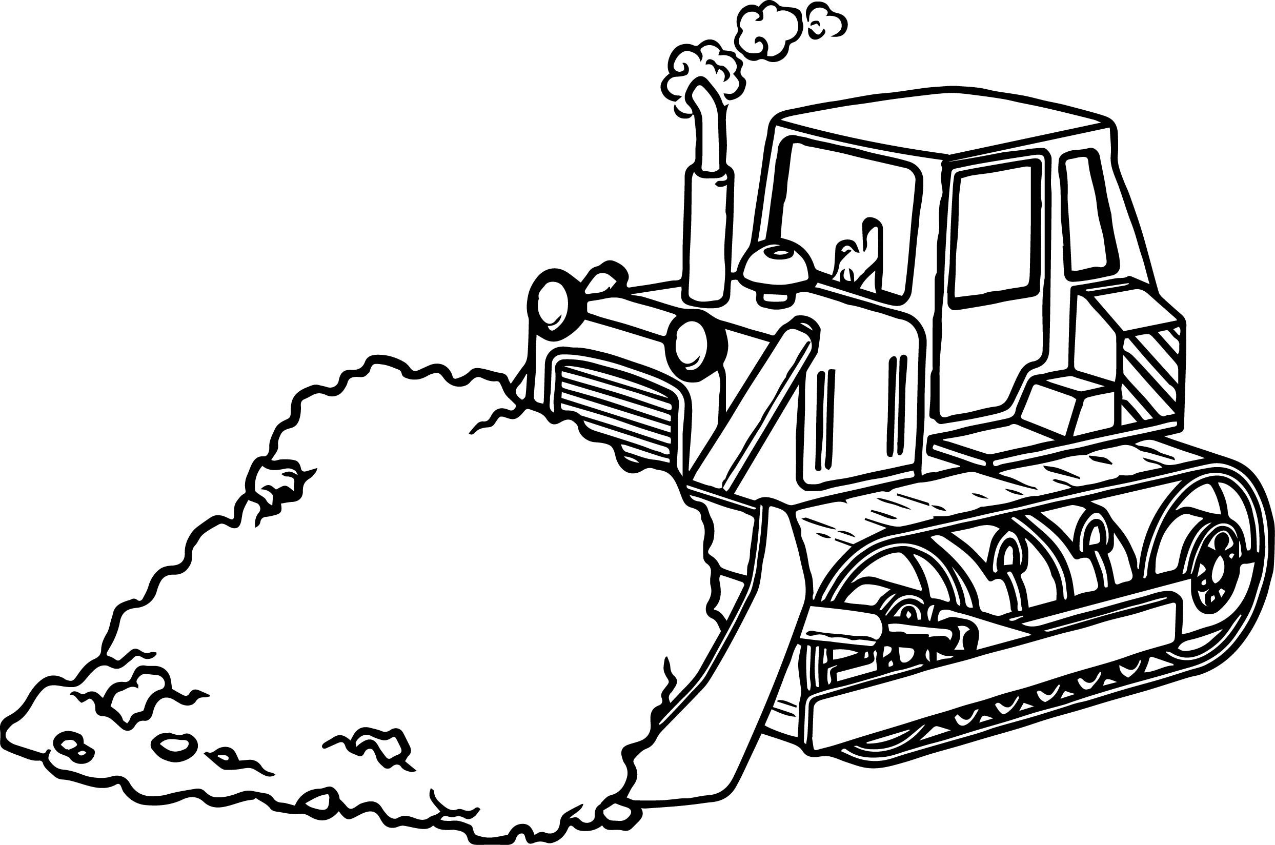 Bulldozer clipart color. Backhoe coloring page jkfloodrelief