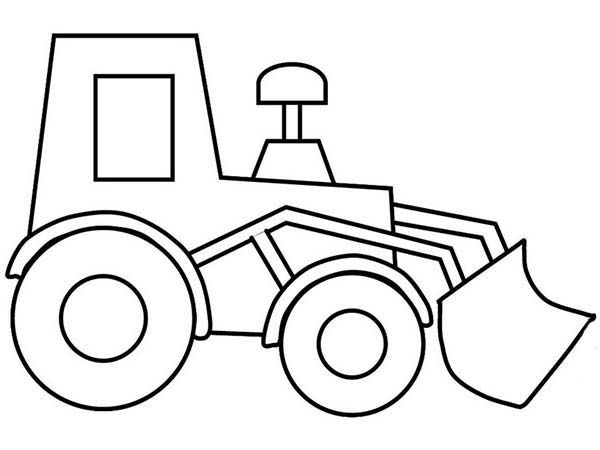 Picture outline coloring page. Bulldozer clipart color