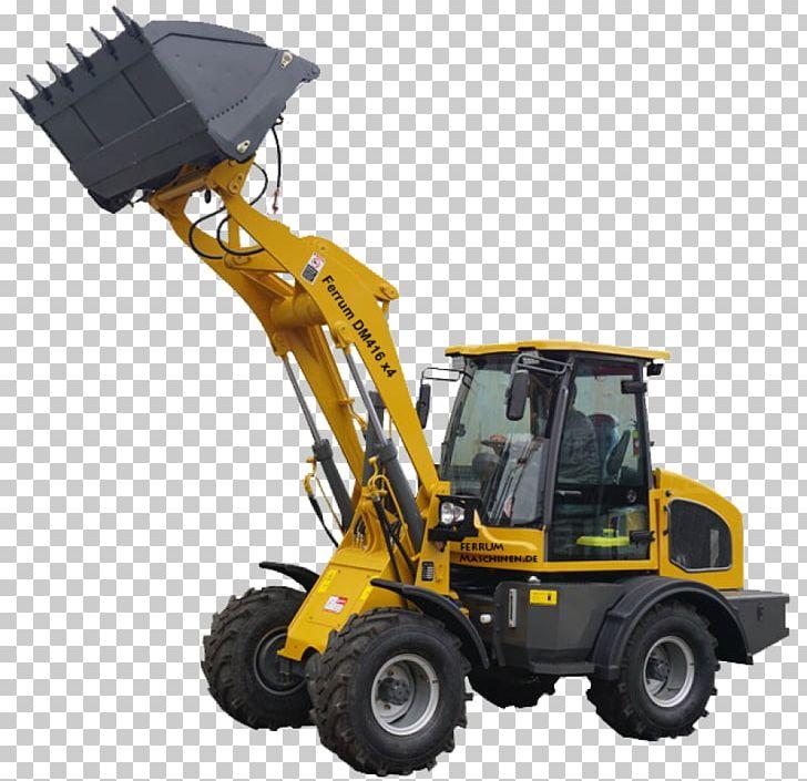 Machine loader hoflader yellow. Bulldozer clipart color