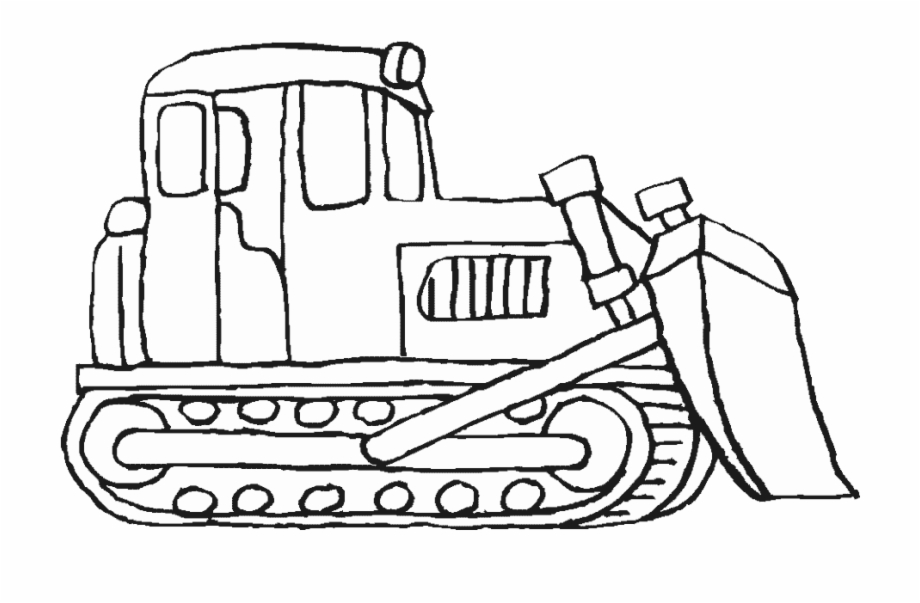 Bulldozer Clipart Coloring Page Bulldozer Coloring Page