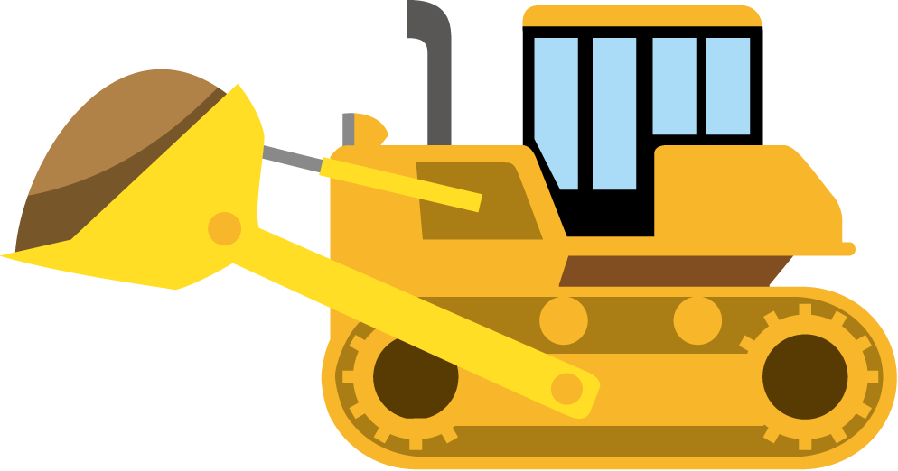 collection of vehicle. Clipart cat construction