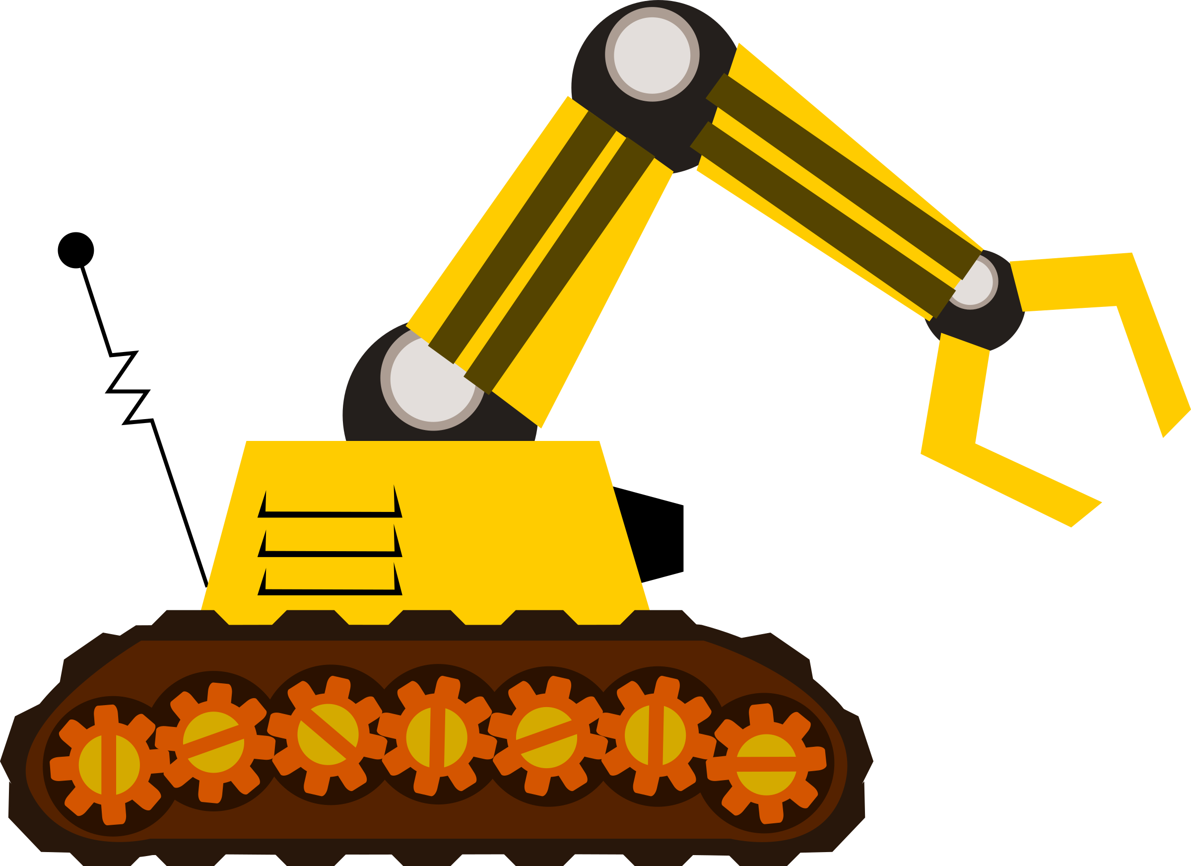 Crane clipart yellow. Robot with a claw