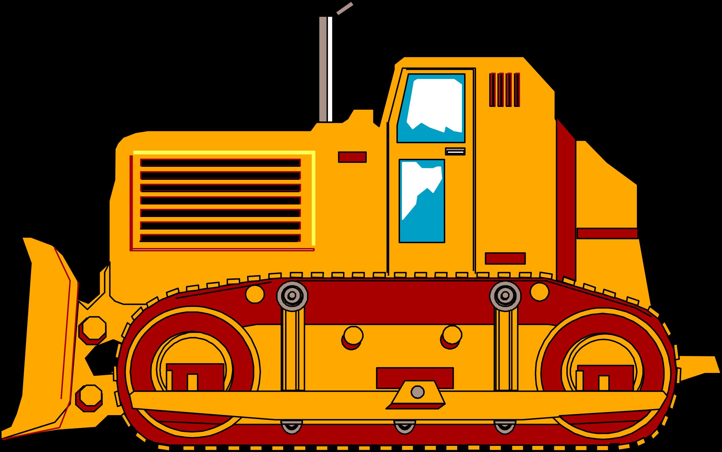 D dozer big image. Bulldozer clipart earth mover