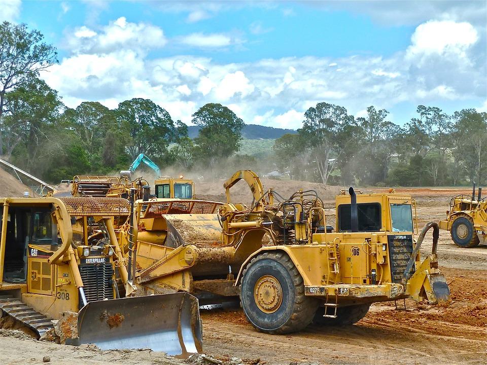 Bulldozer clipart earth mover. Free photo earthwork operations