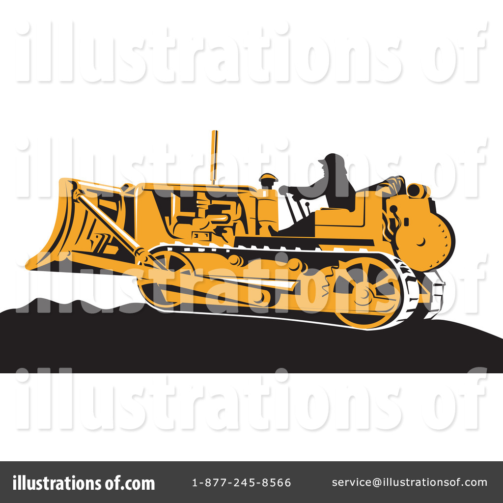 Bulldozer clipart earth mover. Illustration by patrimonio royaltyfree