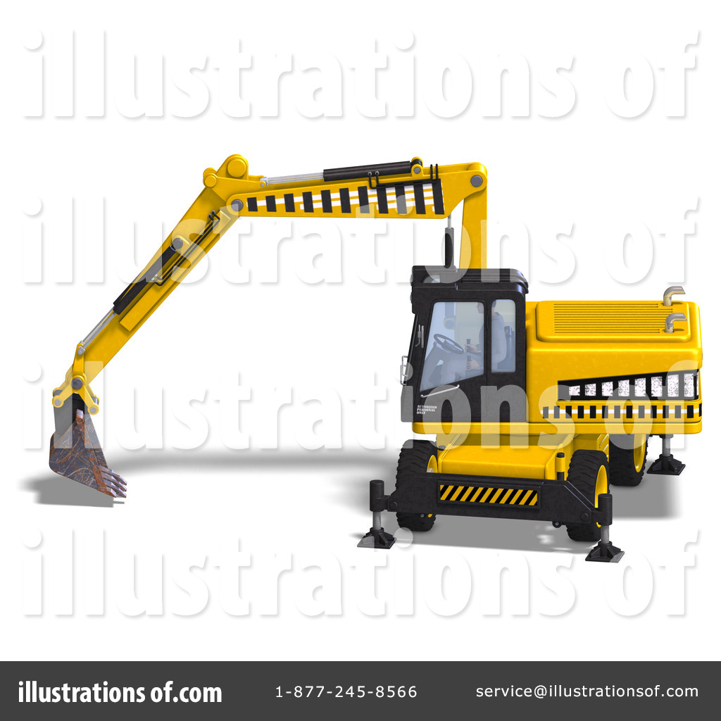 Bulldozer clipart earth mover. Excavator illustration by ralf