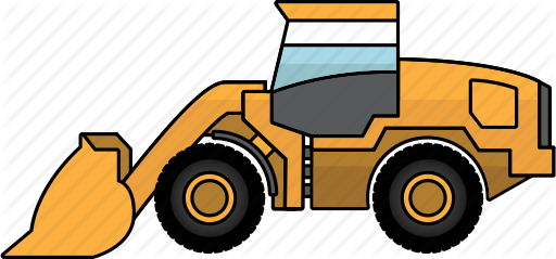 Mining vehicles by rob. Bulldozer clipart earth mover