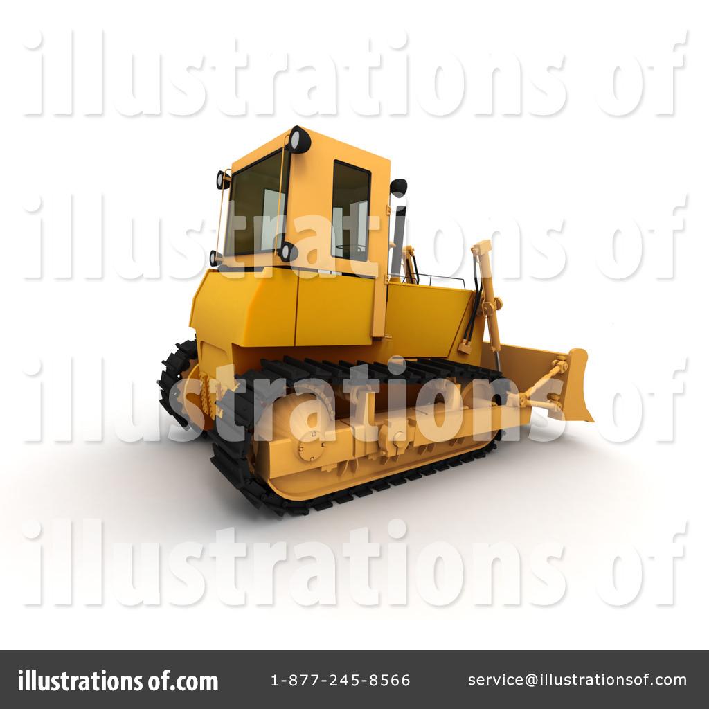 Illustration by frank boston. Bulldozer clipart earth mover