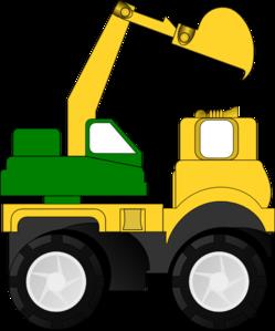 Cartoon excavator clip art. Backhoe clipart digger