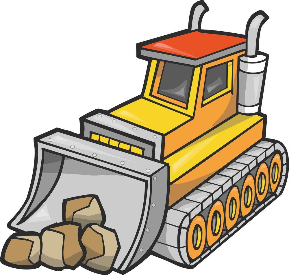 Cliparts co drawing clip. Bulldozer clipart heavy equipment