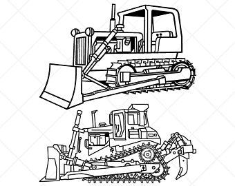 Bulldozer clipart sketch, Bulldozer sketch Transparent ...