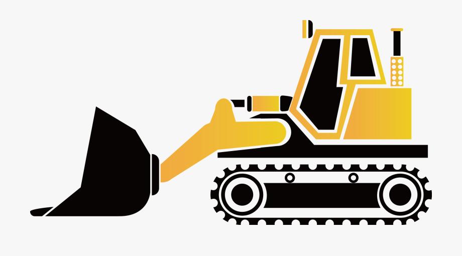Bulldozer png . Excavator clipart tractor caterpillar
