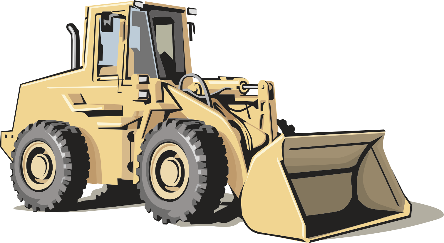 Heavy equipment architectural engineering. Excavator clipart construction