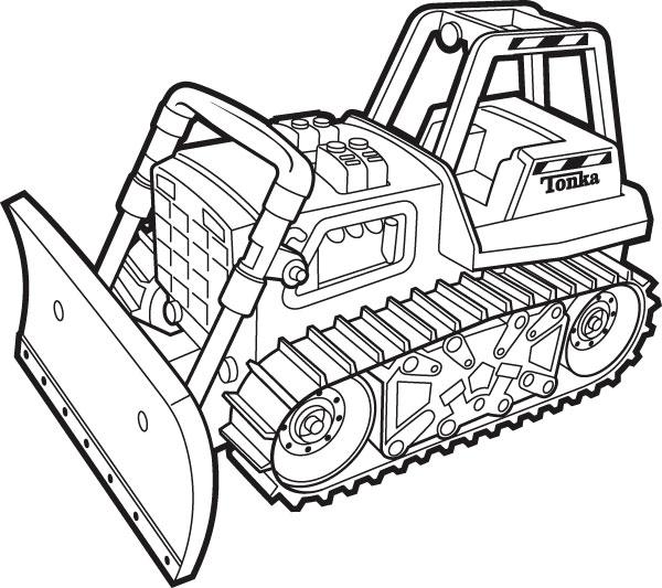 Bulldozer clipart truck tonka. Simple drawing at getdrawings