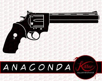 Firearms clip art etsy. Bullet clipart 44 magnum