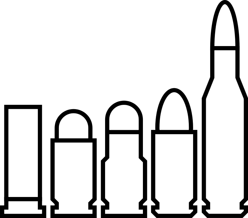 Bullet clipart 9mm. Silhouette at getdrawings com
