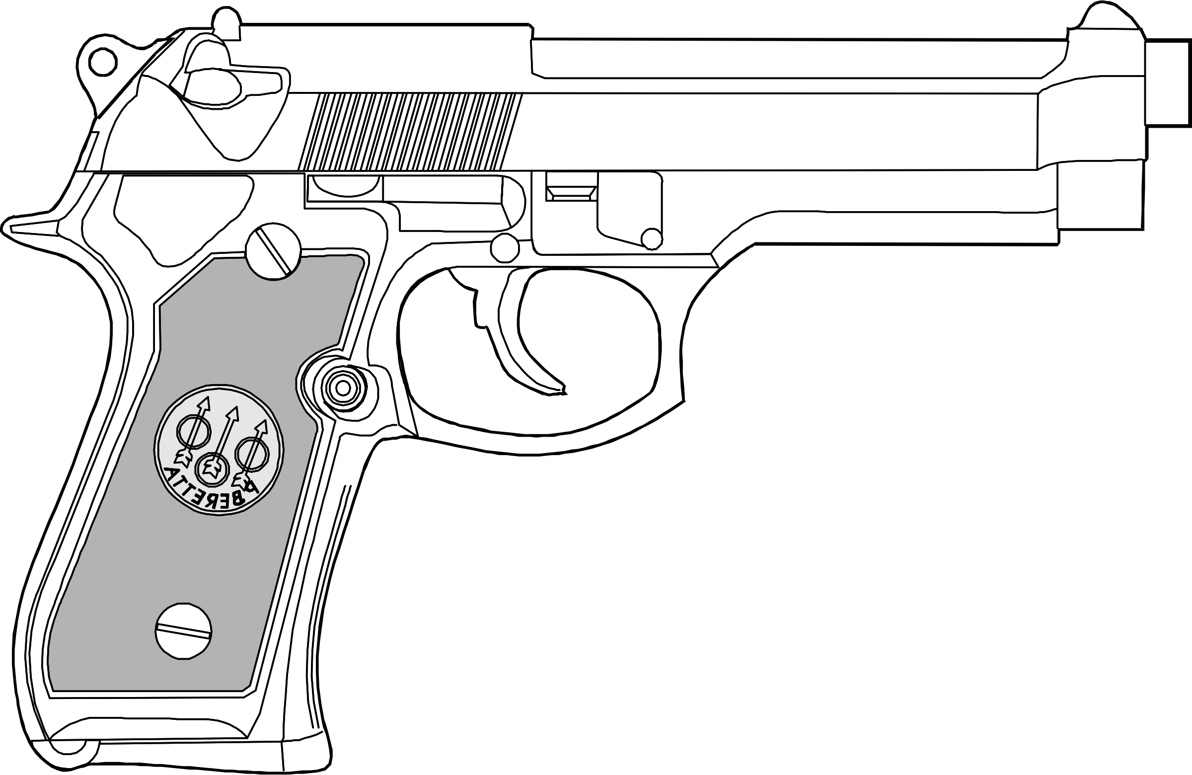 Gun clipart air rifle. Mm pistol big image