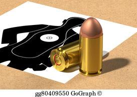 Stock illustration mm drawing. Bullet clipart 9mm