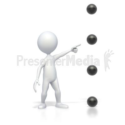Point medium high presentation. Bullet clipart animated