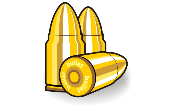Bullet clipart bala. Icon with three bullets